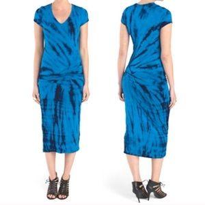 Young Fabulous & Broke Araya Blue Midi Dress | S